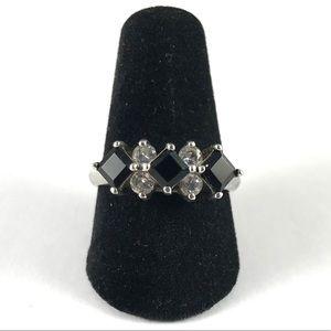 Vintage Amethyst Sterling Silver Ring Size 7.75